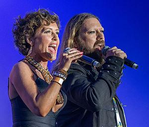 Rickard Söderberg - Rickard Söderberg and Anne Sofie von Otter under Stockholm Pride 2015
