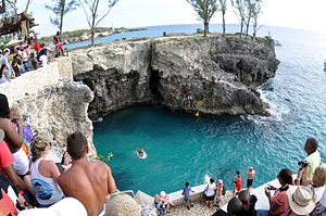 Negril - Cliff Jumper at Ricks in Negril, Jamaica