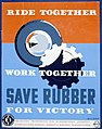 Ride together - work together - save rubber for victory LCCN98517373.jpg