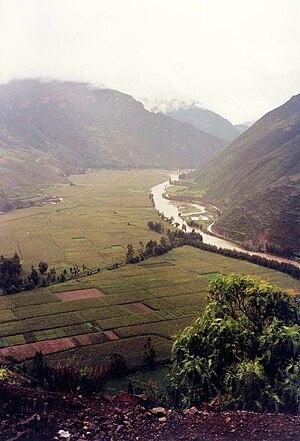 Irrigation in Peru - Irrigation on the Urubamba River (December 1999)