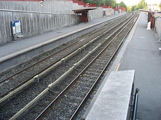 Røa (station) railway station in Vestre Aker, Norway