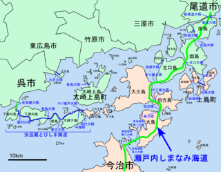 It is one of the connecting routes of the Honshū and Shikoku Islands in Japan.