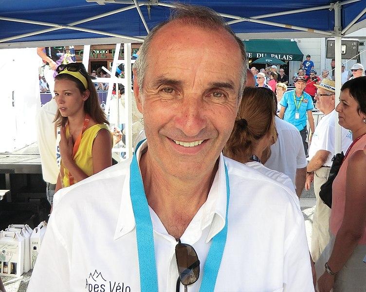 """Robert Alban, ancien coureur cycliste qui fut notamment troisième du Tour de France 1952. Il participe en 2013 au """"Craft Challenge - Tour de l'Ain Cyclosportif"""" organisé en marge du Tour de l'Ain pro."""