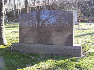Robert Rossen - The gravesite of Robert Rossen