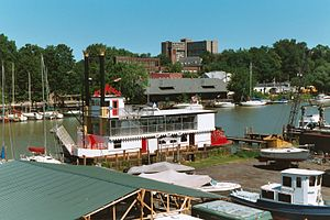 Rochester NY Harbor Town Belle July 2002.jpg