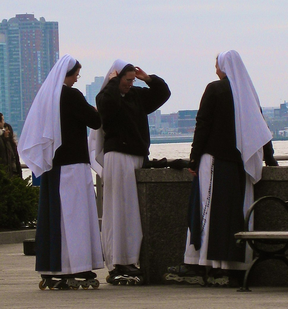 Rollerblading nuns