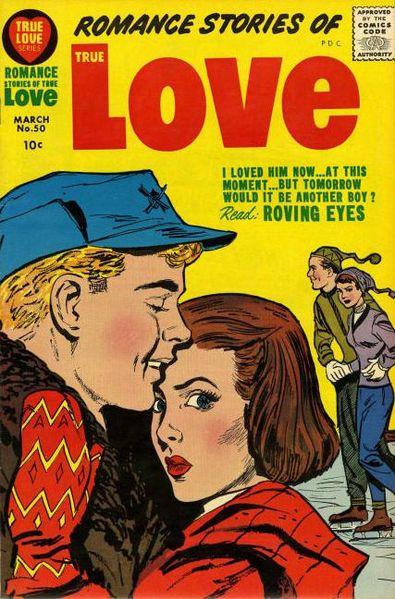Silver Age romance comic cover