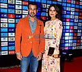 Ronit Roy and Neelam Singh at IPL 2016 opening ceremony.jpg