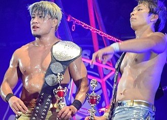 Sho Tanaka - Roppongi 3K as the IWGP Junior Heavyweight Tag Team Champions and the winners of the 2017 Super Jr. Tag Tournament