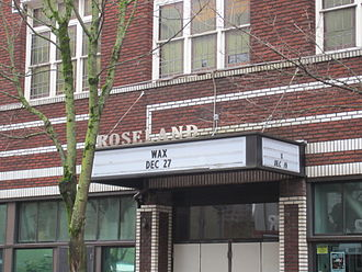 Roseland Theater - Theatre signage in 2014