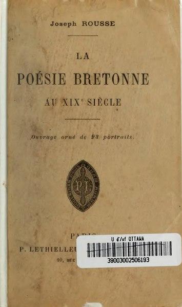 File:Rousse - La Poésie bretonne du XIXe siècle, 1895.djvu