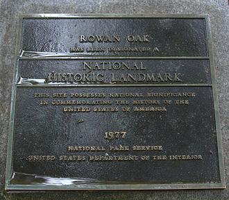 Rowan Oak - Rowan Oak Landmark
