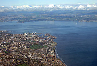 Leith Port district of Edinburgh in Midlothian, Scotland