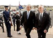 Kevin Rudd with US Deputy Secretary of Defense Gordon England in March 2008