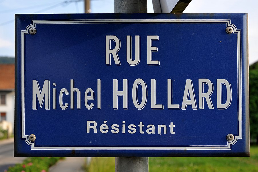 Rue Michel Hollard in Montlebon; Doubs, France.
