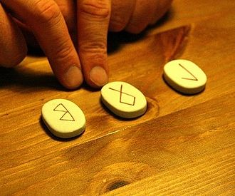 Runic magic - Runic divination using ceramic tiles