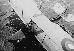 Imperial Russian Air Service - M-5 in the Black Sea in about 1915 during World War I