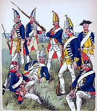Russian grenadiers and musketeers in 1762
