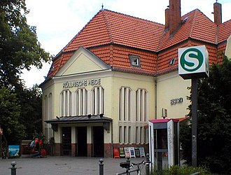 Baumschulenweg–Neukölln link line - Köllnische Heide station on the line