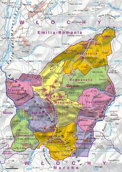 Mapa San Marino