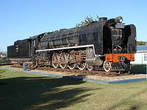 South African Class 23 4-8-2 - No. 2556 in Gideon Joubert park, Touws River, 8 January 2010