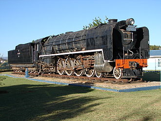 Touws River (town) - SAR Class 23 locomotive plinthed in a park in Touws River