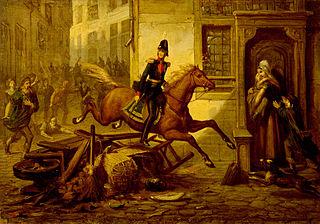 Anno 1830. De prins van Oranje ontsnapt aan de woede van het Brusselse volk