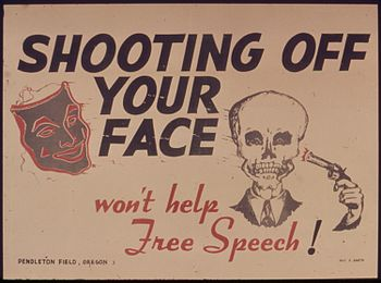 SHOOTING OFF YOUR FACE WON'T HELP FREE SPEECH ...