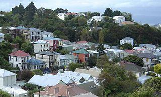 Aro Valley Suburb in Wellington City, New Zealand
