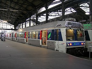 SNCF Class Z 6400 - An refurbished Z6400 EMU in the normal version at Paris-St-Lazare.