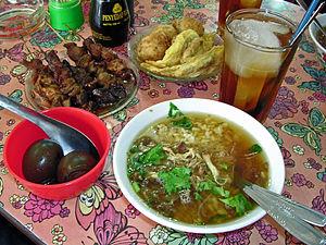 Iced tea - Iced tea as served with Indonesian food