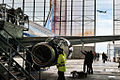 SSJ100 for Interjet - Painting the livery (8465016220).jpg