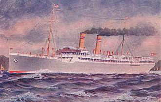 Norwegian America Line - Image: SS Kristianinafjord