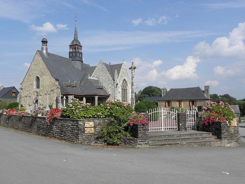 Église de Saint-Léry (56). L'église et son enclos.