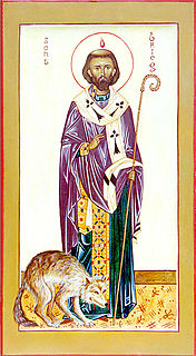 Saint Brioc 5th century Welsh abbot of Saint-Brieuc in Brittany and Llandyfriog in Wales