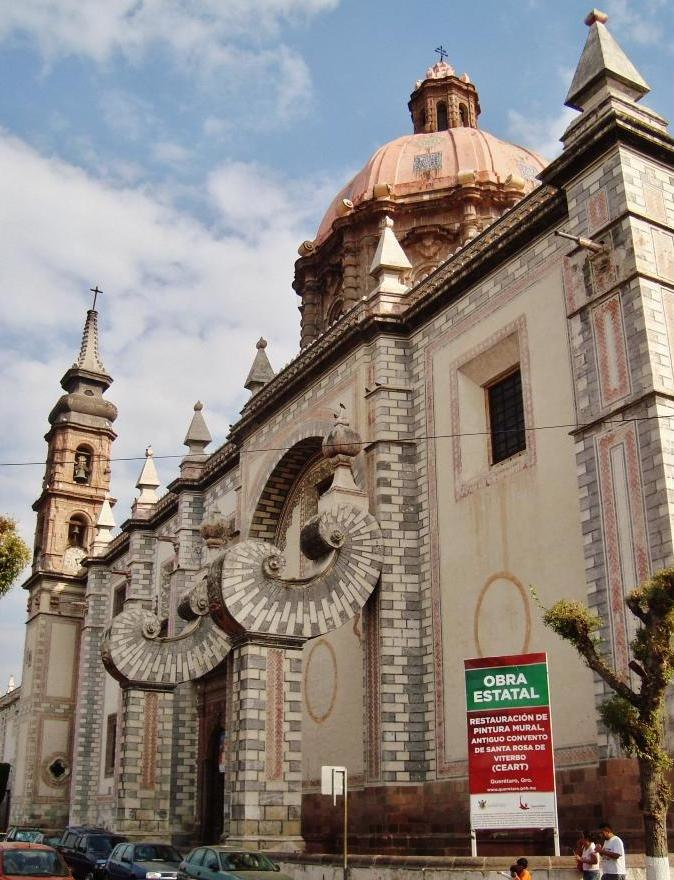 Saint Rose of Viterbo Church and Convent, Santiago de Queretaro, Queretaro, Mexico