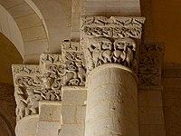 Saintes (17) Basilique Saint-Eutrope Intérieur Chapiteau 14.JPG