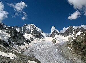 Graian Alps - Aiguille d'Argentière above the Saleina Glacier