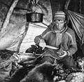 Sami man in his hut.jpg