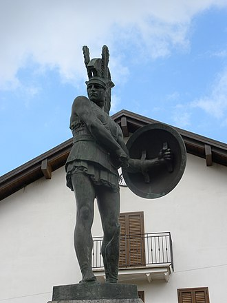 Pietrabbondante - Samnite soldier statue, Pietrabbondante