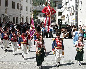 Cultural references to Samson - Samson parade Mauterndorf/Austria