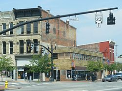 Sandusky and William Streets downtown