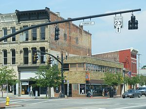 Delaware, Ohio - Sandusky and William Streets downtown
