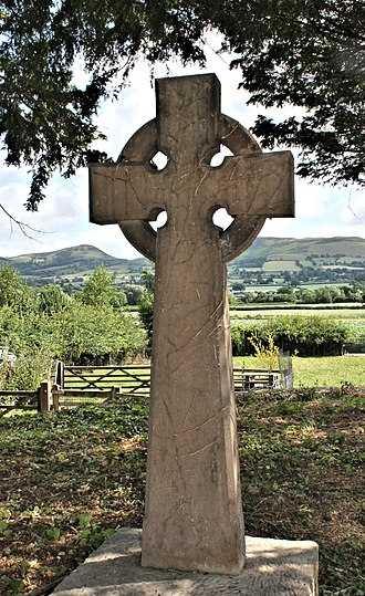 Celtic cross - High Cross in Llanynys, North Wales
