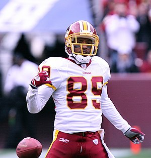 Big East Conference football individual awards - Santana Moss (pictured) and Antonio Bryant in 2000 were the first wide receivers to win.