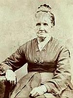 Bust photo of Sarah Marinda Bates Pratt sitting in chair