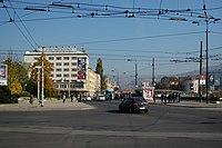 Sarajevo Tram-Stop Skenderija 2011-10-31.jpg