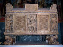 Sarcofago romano, San Catervo, Tolentino