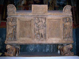 Tolentino - Roman sarcophagus in San Catervo