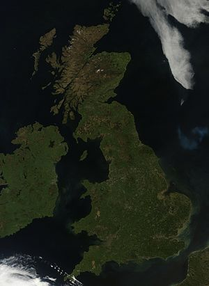 Geography of the United Kingdom - Satellite image of the United Kingdom
